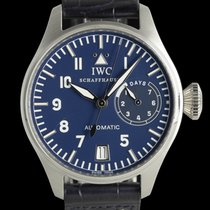 IWC Platinum Automatic Blue 46mm pre-owned Big Pilot