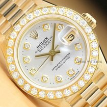 Rolex Lady-Datejust Yellow gold 26mm Silver