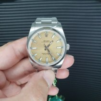Rolex Oyster Perpetual 34 Steel 34mm Gold Arabic numerals