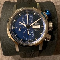 Edox Chronorally Steel 42mm Blue No numerals