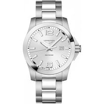 Longines Conquest Steel 43mm Silver Arabic numerals United States of America, New York, New York