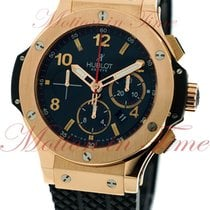 Hublot Big Bang 44mm Evolution, Black Dial - Red Gold on Strap