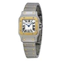 Cartier Santos Galbée neu Quarz Uhr mit Original-Box und Original-Papieren W20012C4