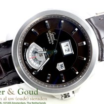 TAG Heuer Grand Carrera  Calibre  8 Leather Strap Date GMT 42 mm