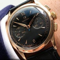Omega Serviced 36mm Vintage Chronograph 18ct solid pink rose gold