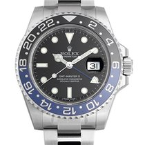Rolex GMT Master II Batman Blue/Black Bezel Steel Black Dial