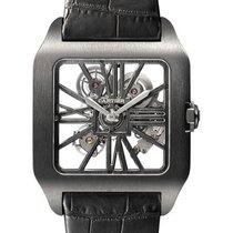 Cartier Titanium Manual winding Black Roman numerals 38.7mm new Santos Dumont