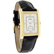 Candino Mens 18K Gold Black Leather Strap Swiss Quartz Watch...