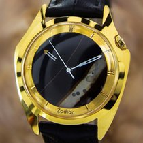 Zodiac Rare Swiss Made Men's Natural Onyx Mystery Dial Dress...