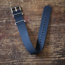 TimeMerchants Silicone black NATO 20MM