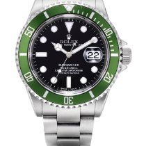 "Rolex Submariner ""kermit Flat 4"", Reference 16610lv A Stainles..."