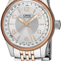 Oris Big Crown Pointer Date new Gold/Steel