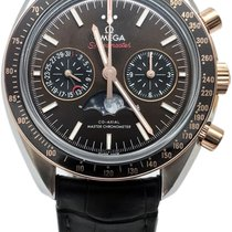 Omega Speedmaster Professional Moonwatch Moonphase Gold/Steel 44.2mm Brown No numerals United States of America, Florida, Naples