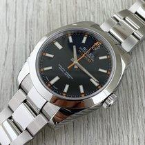 Rolex Milgauss Stahl 40mm Keine Ziffern