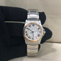 Cartier Santos (submodel) pre-owned 30mm Gold/Steel