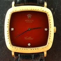 Rolex Cellini Geelgoud 30mm Rood