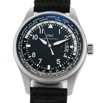 IWC Pilot Worldtimer Ocel 45mm Černá Arabské