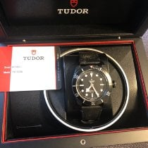 Tudor Black Bay Dark usado 41mm Preto Pele