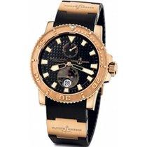 Ulysse Nardin Rose gold Automatic Black 42.7mm pre-owned Maxi Marine Diver