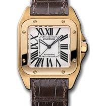 Cartier Santos 100 Pозовое золото 32mm Cеребро Римские Россия, Москва
