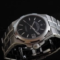 Vacheron Constantin Overseas Men's All Stainless Steel Black Dial