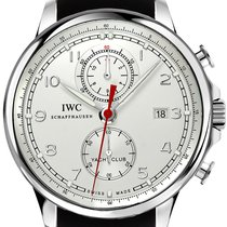 IWC Portugieser Yacht Club Chronograph Stahl 45.4mm Silber Arabisch Schweiz, Zug