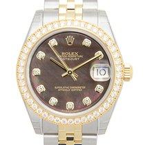 勞力士 (Rolex) Lady Datejust 18k Gold Diamond Steel Black...