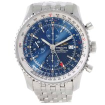 Breitling Navitimer World Blue Dial Steel Mens Watch A24322