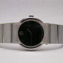 Movado Concerto Classic Luxury Stainless Steel Black Dial...