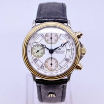 Maurice Lacroix Chronograph Watch Model 03291 Gold Stainless