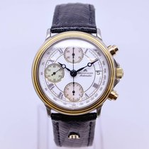 艾美 (Maurice Lacroix) Chronograph Watch Model 03291 Gold Stainless