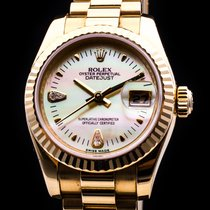 Rolex DateJust 18kt. Gold Brilliant Date Automatic MOP LC 100