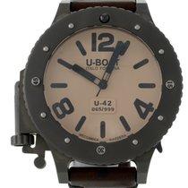 U-Boat 6169 U-42 Automatic in Titanium - On Brown Calfskin...