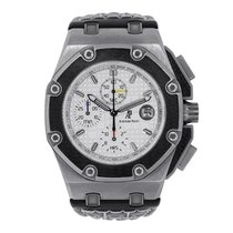 Audemars Piguet Titanium Automatic Silver No numerals 45mm pre-owned Royal Oak Offshore Chronograph