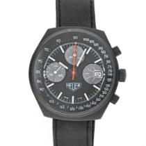 Heuer Chronograph 40mm Manual winding pre-owned Black