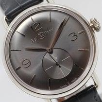 Bell & Ross Silber Handaufzug Grau Arabisch 41mm neu Vintage