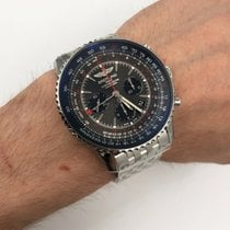 Breitling Navitimer GMT Steel 48mm Grey Arabic numerals