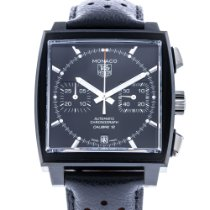 TAG Heuer Monaco Calibre 12 Steel 39mm Black No numerals United States of America, Florida, Hollywood