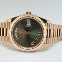 Rolex Day-Date 40 Oro rosa 40mm Verde