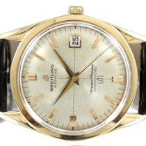 Breitling Or jaune Remontage automatique Transocean Chronograph occasion