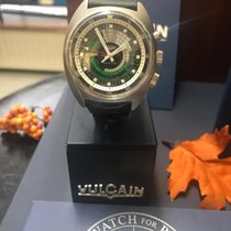 Vulcain Nautical Steel 42mm Green Arabic numerals