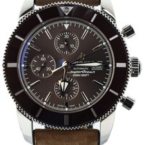 Breitling Superocean Héritage II Chronographe pre-owned 46mm Brown Chronograph Date Calf skin