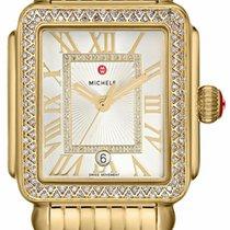 Michele Yellow gold Quartz Roman numerals 33mm new Deco