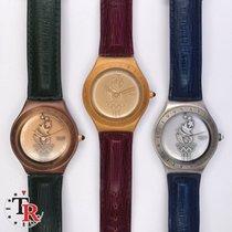 Swatch Gelbgold Quarz 35mm gebraucht