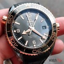 Omega Seamaster PLANET OCEAN 600M CoAxial Master BlackLeatherS...