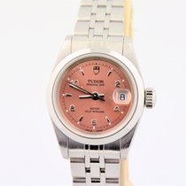 Tudor Women's  Princess Date Salmon Dial Stainless Steel...