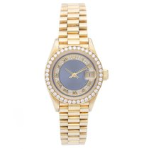 Rolex President Yellow Gold Diamond Bezel Ladies Watch