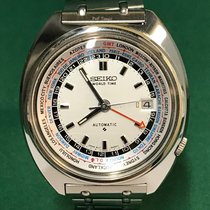 精工 (Seiko) 6117-6409 World Time White Dial with SS Bracelet