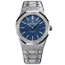 Audemars Piguet Royal Oak Frosted Gold Hammered  White Gold...
