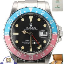 Rolex 1987 Rolex GMT-Master Pepsi Blue Faded Red Stainless...